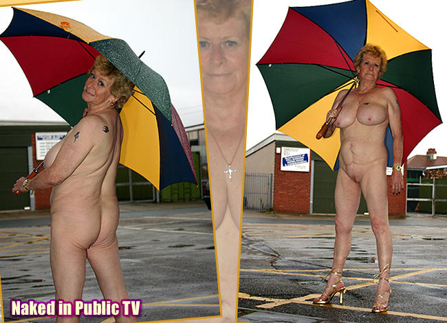 women in public Nude older